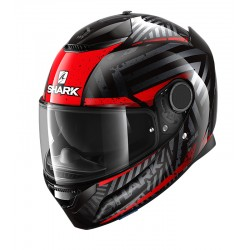 2020 SHARK 1.2 SPARTAN KOBRAK Black Red Red casca moto
