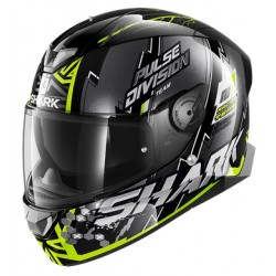 2020 Shark Skwal 2.2 NOXXYS Black Yellow Silver casca moto led