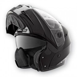 CABERG DUKE LEGEND BLACK WHITE CASCA MOTO FLIP-UP