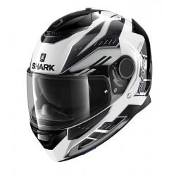2020 SHARK SPARTAN 1.2 ANTHEON White silver black casca moto