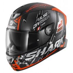 2020 Shark Skwal 2.2 NOXXYS  NOXXYS Mat Black orange silver casca moto led