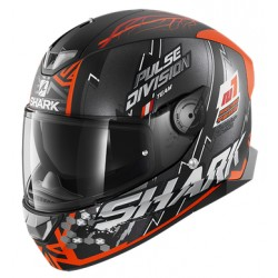 Shark Skwal 2.2 NOXXYS Mat Black orange silver casca moto led
