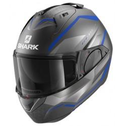 2020 Shark EVO ES YARI Mat Anthracite Blue Silver casca moto modulara