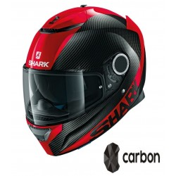 SHARK SPARTAN CARB 1.2 SKIN Carbon Red Red casca moto