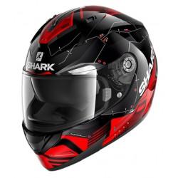 SHARK NEW RIDILL 1.2 MECCA Black red silver casca moto integrala