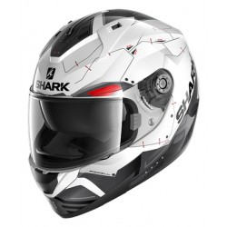 SHARK NEW RIDILL 1.2MECCA White Black Redcasca moto integrala