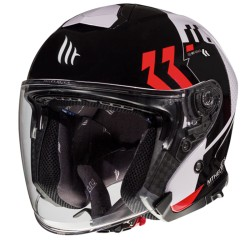 Casca moto Jet MT Thunder 3 Sv Jet Venus A5 Rosu