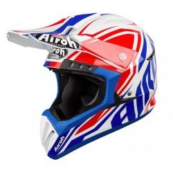 Casca moto Airoh Impact Blue Gloss