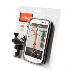 Suport telefon 155x77x20mm cu pringere pe ghidon moto