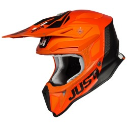 Casca MX Just1 J18 Pulsar Orange-White-Black - Gloss