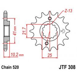 Pinion fata JTF308