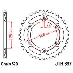 KTM LC-4 foaie spate moto