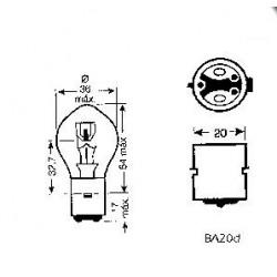 Bec far moto 6V 35/35W