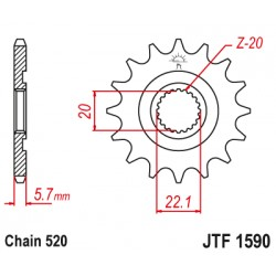 Pinion fata JTF1590