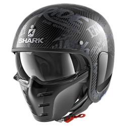 SHARK S-DRAK FREESTYLE CUP MAT CASCA MOTO CARBON